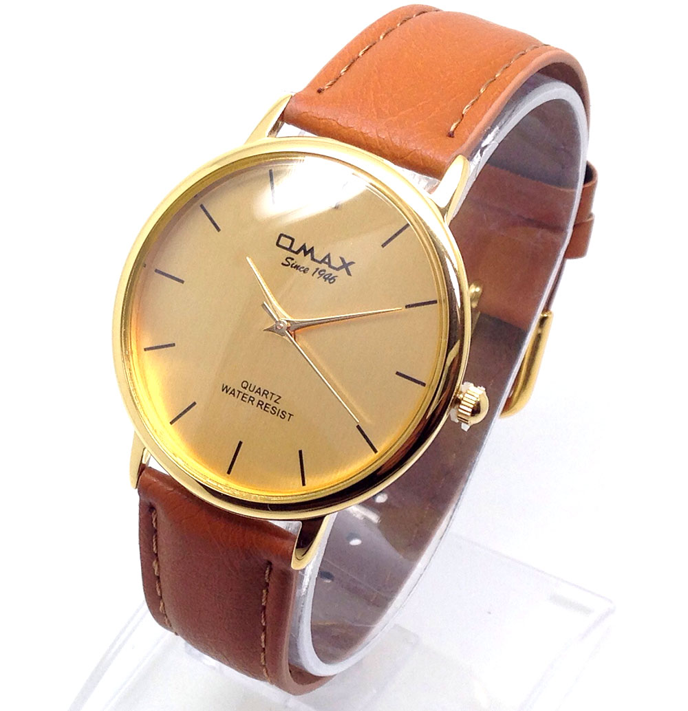 740p men omax celebrity style wrist watch brown genuine leather strap gold dial 7435417258295 ebay for Celebrity watches male